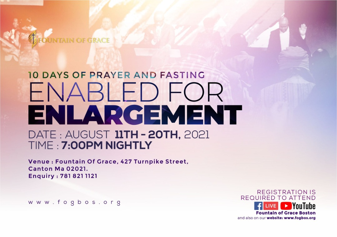 10DAYS OF PRAYER AND FASTING ENABLED FOR ENLARGEMENT